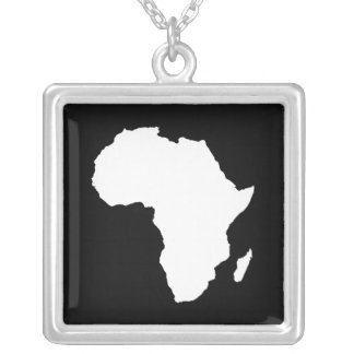 Black Audacious Africa Silver Plated Necklace
