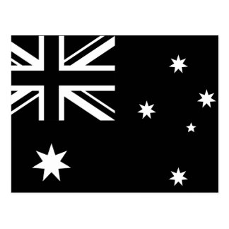 Black Australia Country Flag Post Card