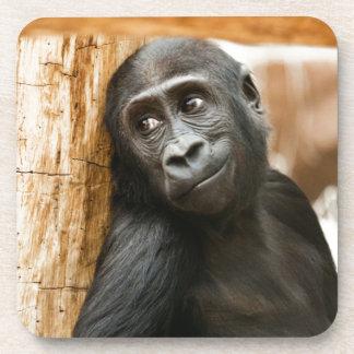 Black Baby Monkey Drink Coaster