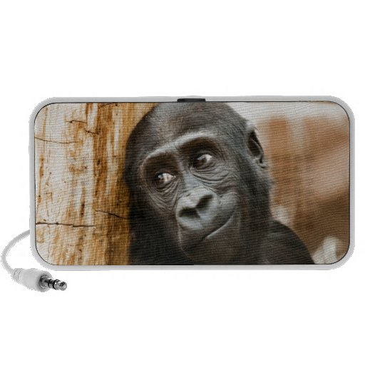 Black Baby Monkey Portable Speakers