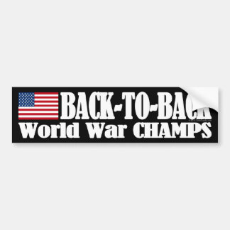 Black Back-To-Back USA Champs Bumper Sticker