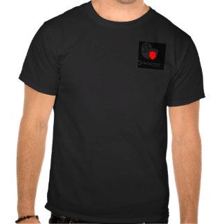 Black Background and Red Sheild Logo Tshirt