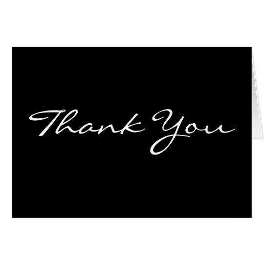 Black background business thank you cards zazzle black background business thank you cards reheart Image collections
