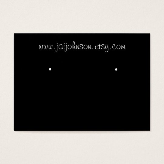 Black Background Earring Cards