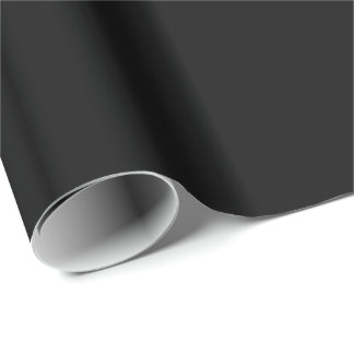 Black Background. Elegant Chic Solid Fashion Wrapping Paper