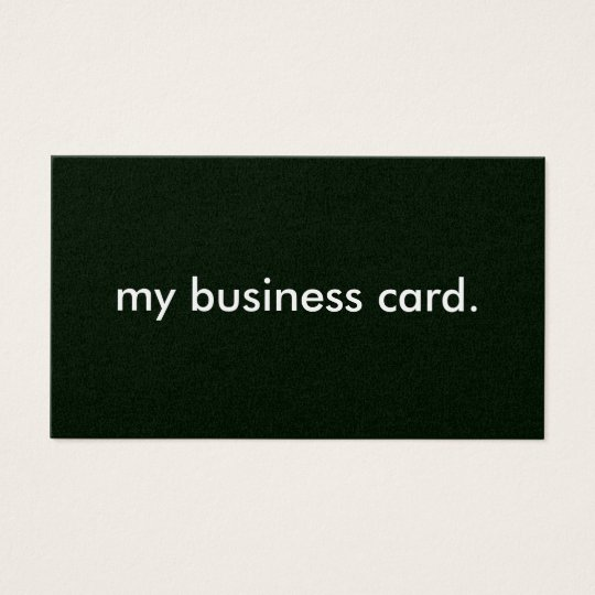 Black Background, my business card. Business Card