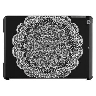 Black Background With A White Lace Doily Case For iPad Air
