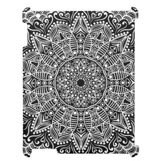 Black Background With A White Lace Doily iPad Cover