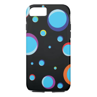 Black background with colored bubbles. iPhone 7 case