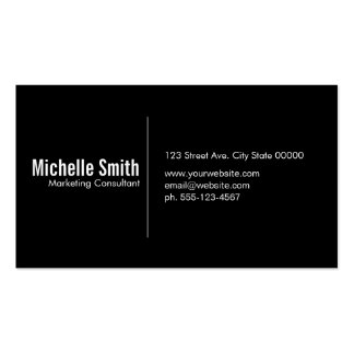 Black background with Divider Line Pack Of Standard Business Cards