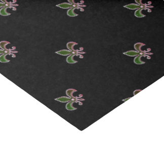 Black Background with  Fleur de Lis Tissue Paper
