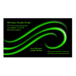 Black Background With Lime Green Bevel Swirls