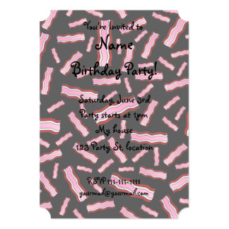 Black bacon 5x7 paper invitation card