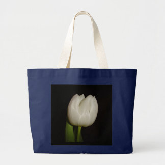 Black Bag With White Tulip Flower