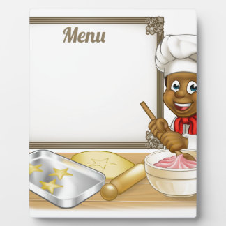 Black Baker or Pastry Chef Menu Sign Photo Plaque