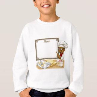 Black Baker or Pastry Chef Menu Sign Sweatshirt