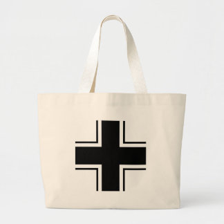 Black Balkan cross of Luftwaffe Large Tote Bag