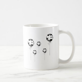 black ballons basic white mug