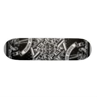 black bandana 20 cm skateboard deck