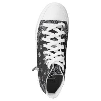 black bandana Zipz High Top Shoes,