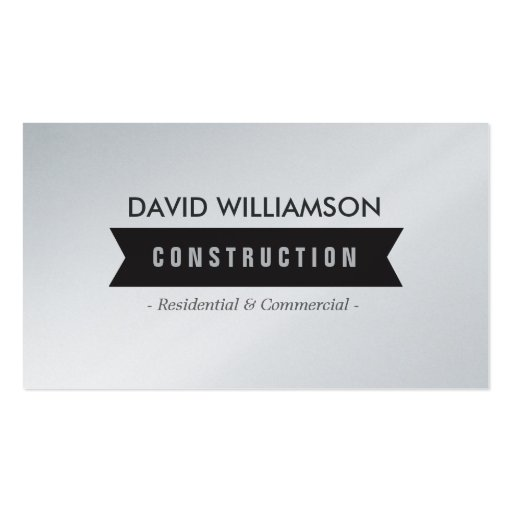 BLACK BANNER CONSTRUCTION, BUILDER, ARCHITECT BUSINESS CARDS