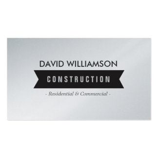 BLACK BANNER CONSTRUCTION, BUILDER, ARCHITECT PACK OF STANDARD BUSINESS CARDS