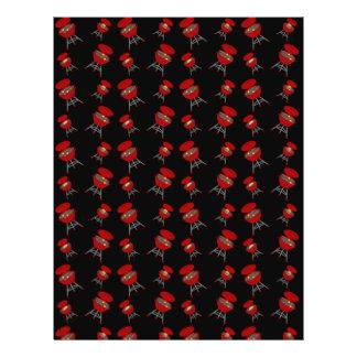 Black barbeque pattern custom flyer