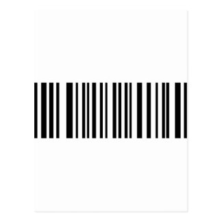 black barcode icon post card