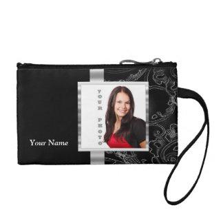 Black baroque instagram template coin purse