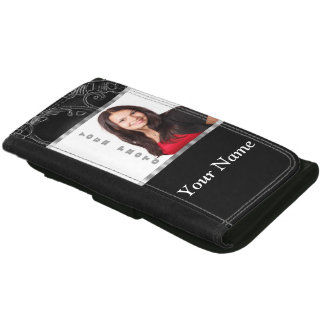 Black baroque instagram template wallet