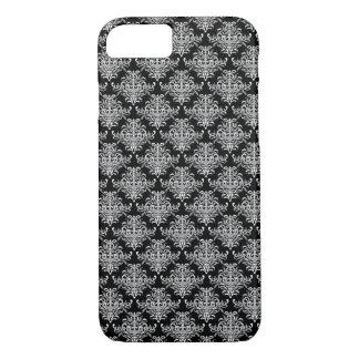 Black baroque pattern iPhone 7 case