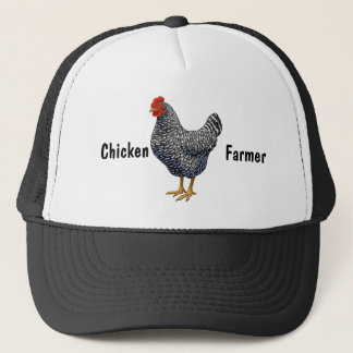 Black Barred Plymouth Rock Hen Trucker Hat