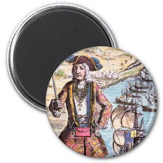 Black Bart Color Portrait 6 Cm Round Magnet
