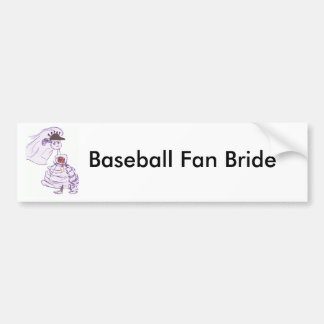 Black Baseball Cap Bride Bumper Sticker