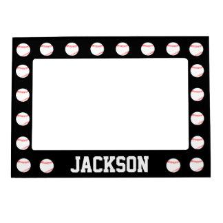 Black Baseball Custom Magnetic Picture Frame
