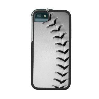 Black Baseball / Softball Stitches Case For iPhone 5/5S