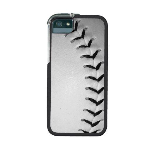 Black Baseball / Softball Stitches iPhone 5/5S Covers