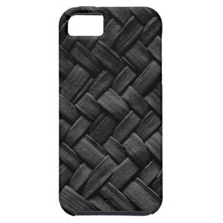 black basket weave pattern iPhone 5 case