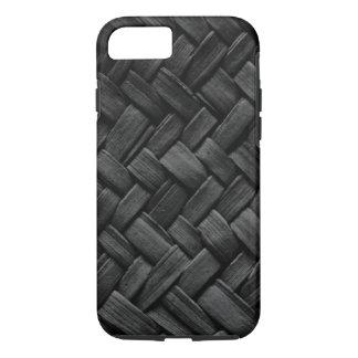 black basket weave pattern iPhone 7 case