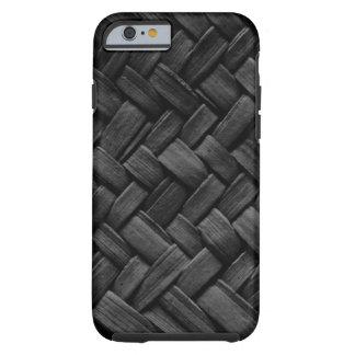 black basket weave pattern iPhone 6 case