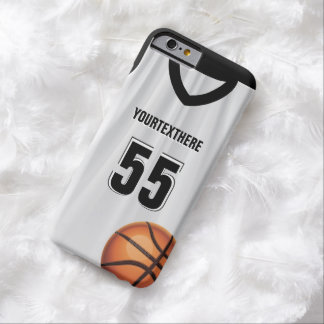 Black BasketBall Dress Name &  Number Barely There iPhone 6 Case