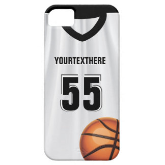Black BasketBall Dress Name &  Number Case For The iPhone 5