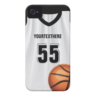 Black BasketBall Dress Name &  Number iPhone 4 Case-Mate Cases