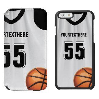 Black BasketBall Dress Name &  Number Incipio Watson™ iPhone 6 Wallet Case