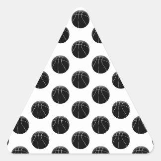 Black Basketball Pattern Triangle Stickers