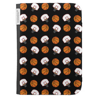 Black basketballs and nets pattern kindle 3 cases