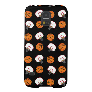 Black basketballs and nets pattern galaxy s5 covers
