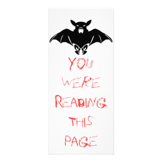 Black  Bat Bookmark Template Rack Card Template