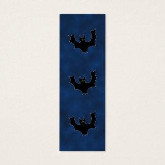 Black Bat Cartoon, in Night Sky. Mini Business Card