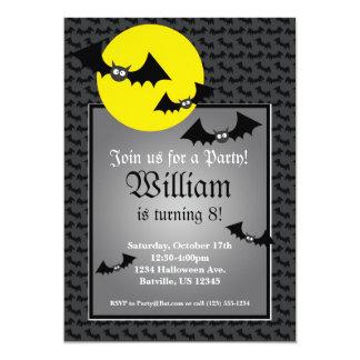 Black Bat Spooky Halloween Birthday Party Invite